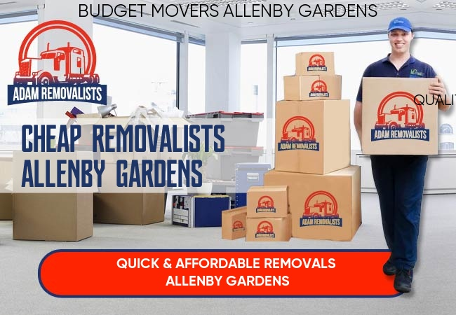 Cheap Removalists Allenby Gardens
